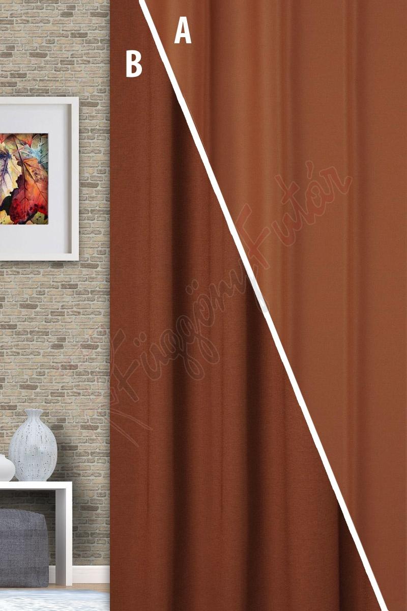 Rusztik - Tejcsokoládé színű blackout függöny  e74ea1273c