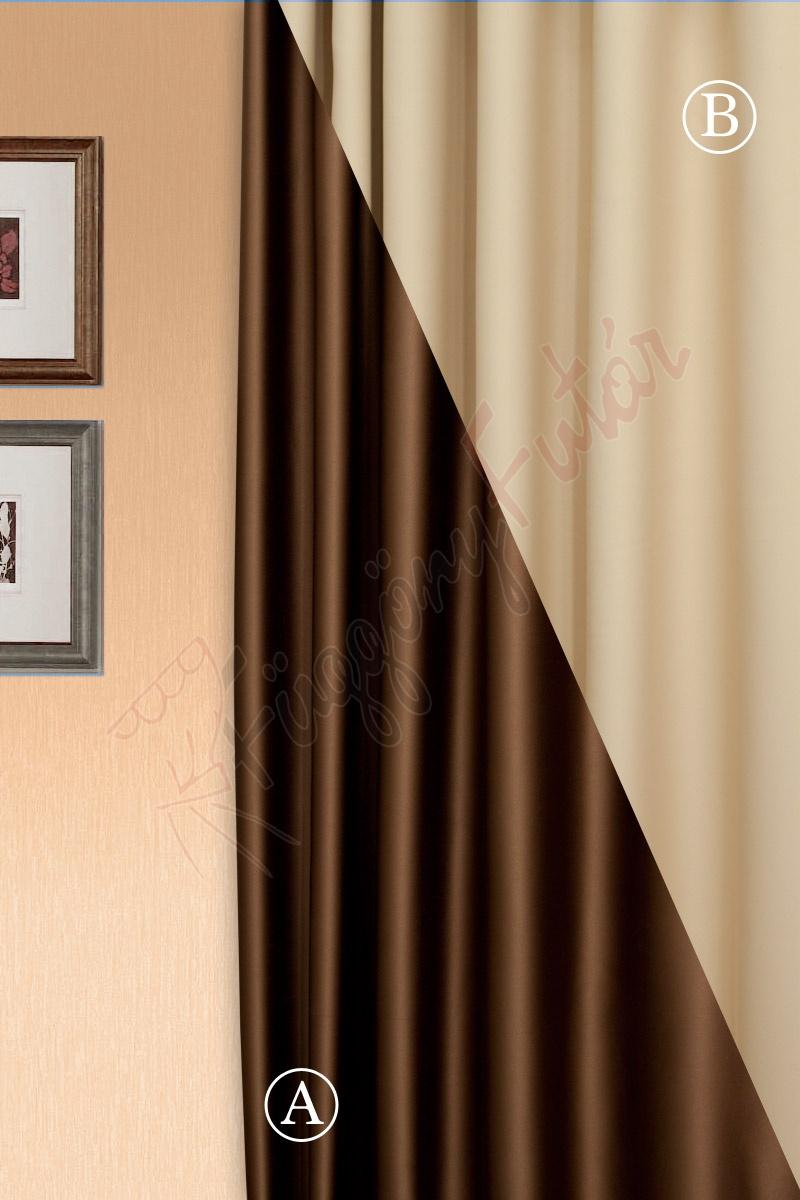 Pierrot kétoldalas barna-bézs színű blackout függöny  74e616edd7