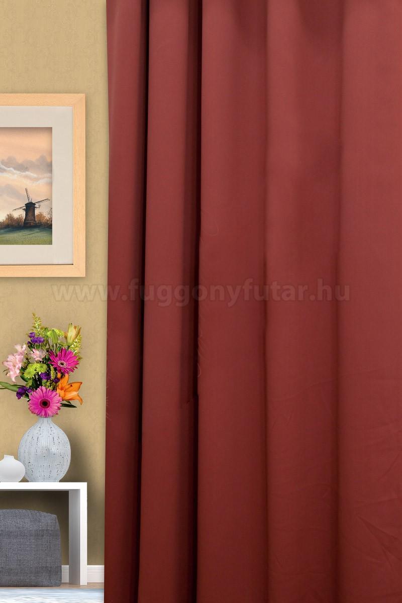 Terrakotta színű fényzáró sötétítő függöny  0dbad90a2a