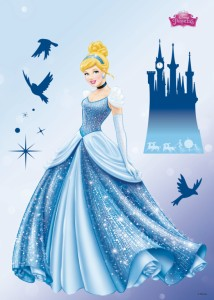 Disney Princess Dream - 10 részes falmatrica, Komar 14016, 50x70 cm